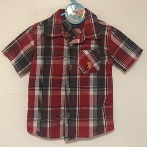 U.S. POLO ASSN. Boys Plaid Shirt. Size 3T
